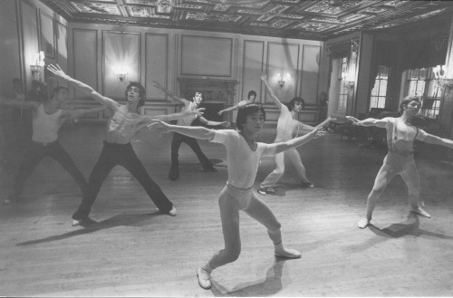 Luigi's Jazz class at Harkness  House for Ballet Arts' trainees